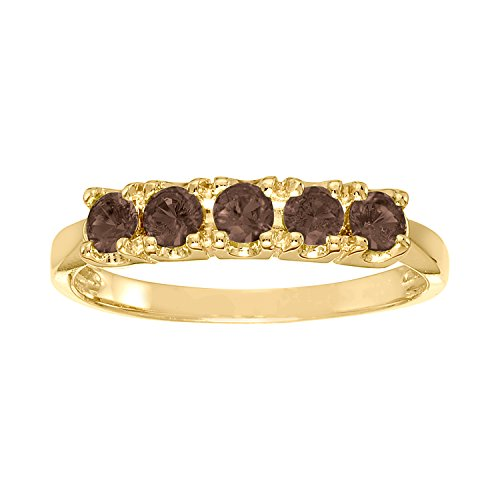 ArtCarved Sweet Moment Simulated Alexandrite June Birthstone Ring, 10K Yellow Gold, Size 5 (Yellow Artcarved Ring)