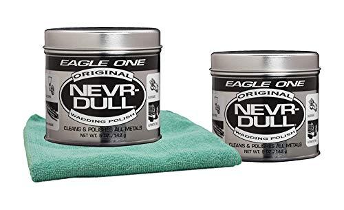 Eagle One Never-Dull Wadding Metal Polish (5 oz.) Bundle with Microfiber Cloth (3 ()