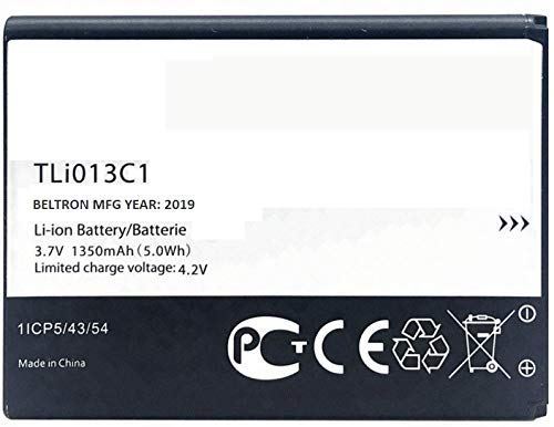 BELTRON 1350 mAh TLi013C1 Replacement Battery for Alcatel One Touch Go Flip 4044 (Boost, Metro PCS, Sprint, T-Mobile, Virgin Mobile) Cingular Flip 2 / QuickFlip (AT&T, Cricket) Tracfone MyFlip 4G