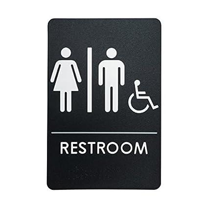 Menu0027s And Womenu0027s Restroom Signs For Handicap Accessible Restroom, ADA Compliant  Bathroom Door Signs