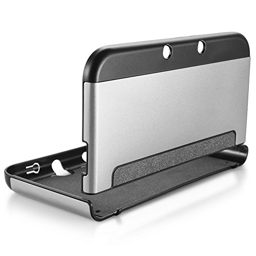 New 3DS XL Case - MIFAVOR Plastic Aluminium Full Body Protective Snap-on Hard Shell Skin Case Cover for New Nintendo 3DS XL 2015 (Silver)
