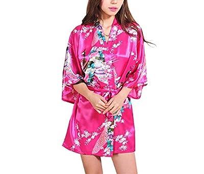 Summer-lavender White Satin Robe Bathrobes for Women Robes Kimono Silk Robes Nightgown Women Pajamas
