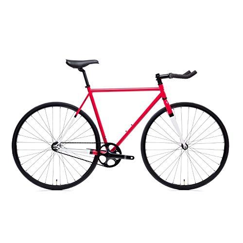 State Bicycle 4130 Steel - Montoya | Double Butted Grade Chromoly Steel - Fixed Gear/Single Speed Road Bike | 52cm Bullhorn