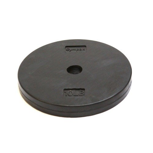 Gympak Rubber Weight Plate, Black, 10 lb by Gympak