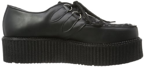 Pleaser Creeper-402 Schoen Zwart Leer