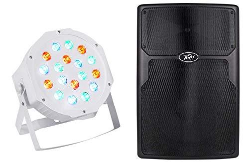 """Peavey PVx15 15"""" 800-Watt Passive Pro Audio PA Speaker w/ RX14 Driver+Wash Light"""
