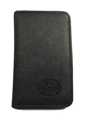 - Buxton Heiress Pik-Me-Up Snap Card Case, Black