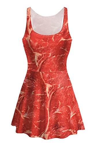 Camis Womens 1 Jaycargogo Printing Leisure Swing A Dress Temperament Line wPpqp