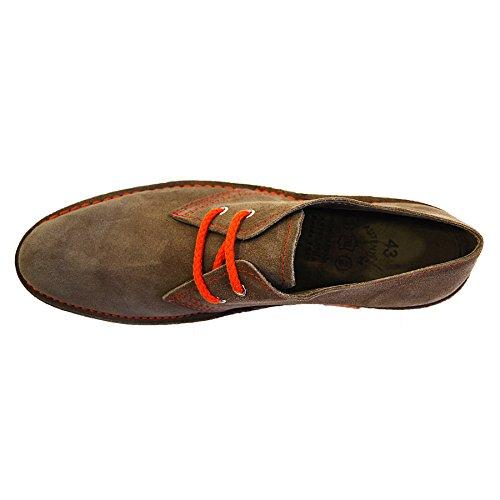 Zapatos con Cordones - Casual - Formal - Piel de Ante - Hombre