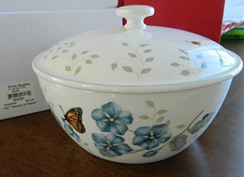 Lenox China Butterfly Meadow Covered Bowl New with (China Covered Vegetable Bowl)