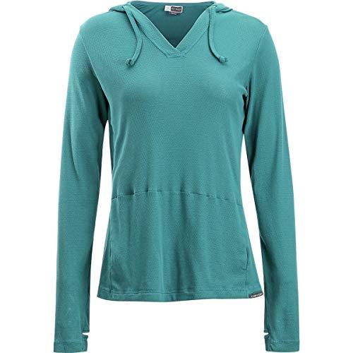 (ExOfficio Women's BugsAway Lumen Hoody Hiking Shirts, Malachite, Small)