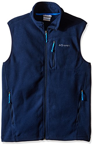 Columbia Men's Cascades Explorer Full-Zip Midweight Fleece Vest, Collegiate Navy, Medium