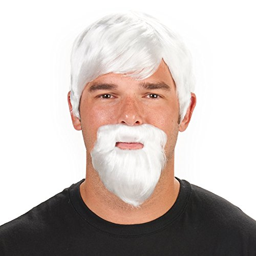 The Colonel Adult Wig and Beard (Colonel Sanders Costume Wig)