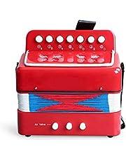 Vobajf Dzieci akordeon fortepian dla dzieci perkusja akordeon muzyczny instrument akordeon zabawka początkujący łatwy do zabawy dla chłopców dziewcząt łatwy do nauki i zabawy