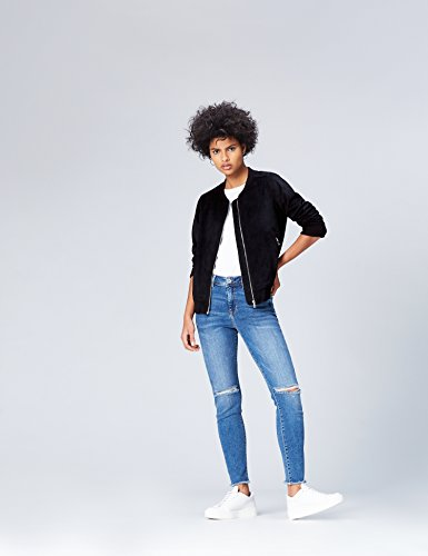 Bomber Mujer Para Negro Chaqueta black Find xTnw8dq8