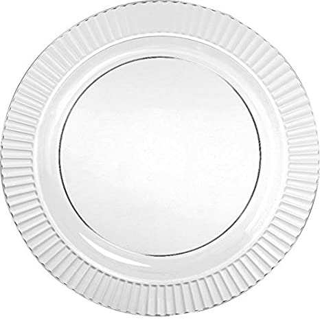Amscan Party Ready Reusable Round Dinner Plates Tableware 16 Pieces Made from Plastic  sc 1 st  Amazon.com & Amazon.com: Amscan Party Ready Reusable Round Dinner Plates ...