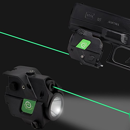 LASERCROSS CL103 Compact Green Dot Laser Sight,220Lumens Flashlight Combo 20mm Rail Picatinny On/Off Switch Air Pistol,Airgun,Pistols,Handgun,Shotguns,Rifle etc by LASERCROSS