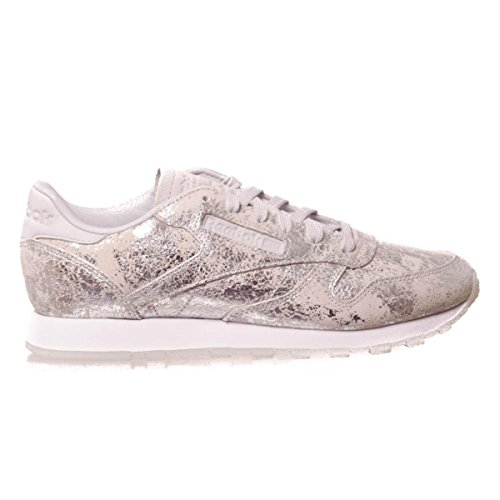 Reebok Classic Leather Texturial BS6785, Deportivas Metálico