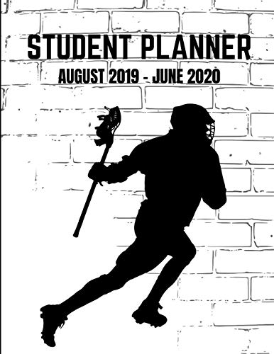 Student Planner August  2019- June 2020: Lacross Academic Agenda  Daily Weekly Planner with Assignment Test and Exam Checklist and Reminder To-Do List por Marcus Grenier Designs