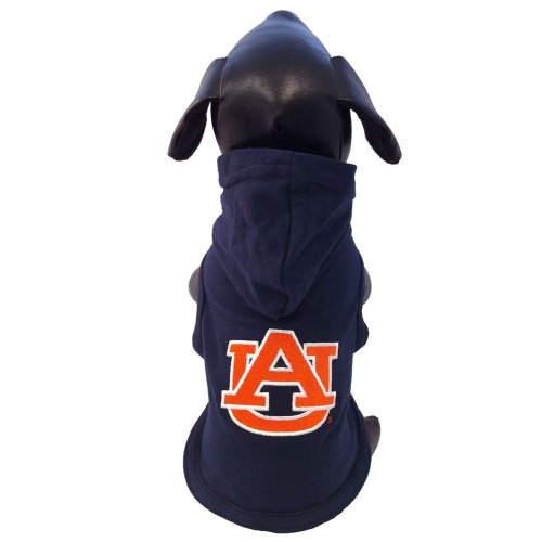 NCAA Auburn Tigers Collegiate Cotton Lycra Hooded Dog Shirt (Team Color, XX-Small) (Hooded Lycra)