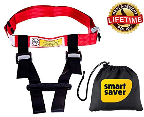 Child Safety Harness Airplane Travel with Free Carry Pouch Bag, Airplane Travel Harness for Safe Flying with Baby, Toddlers - Strictly for Aviation Travel Only Bigtime Ent
