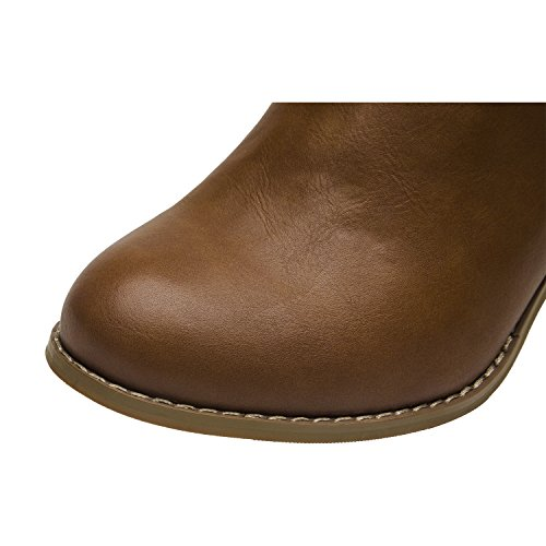 Pictures of Luoika Plus Size Wide Width Ankle BootsWomen 4
