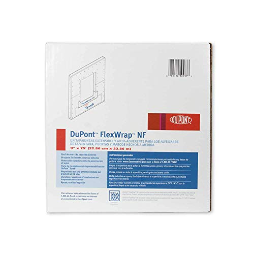 "DuPont FlexWrap NF 9"" x 75' - Self Adhered Butyl Flashing Tape - 1 Roll from DuPont"