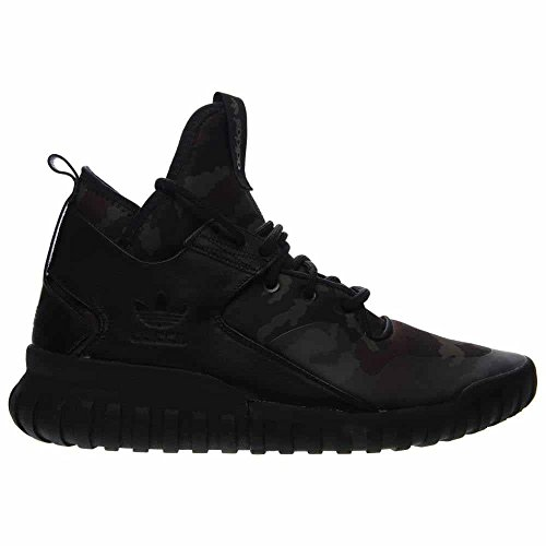 Adidas Tubular X Pk Herren Leder Turnschuhe Core Black / Dark Brown