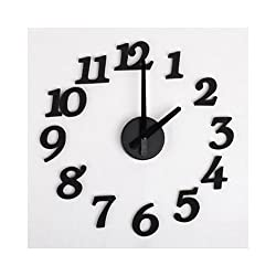 TOOGOO(R) DIY Design Art Foam Sponge Digit Wall Clock