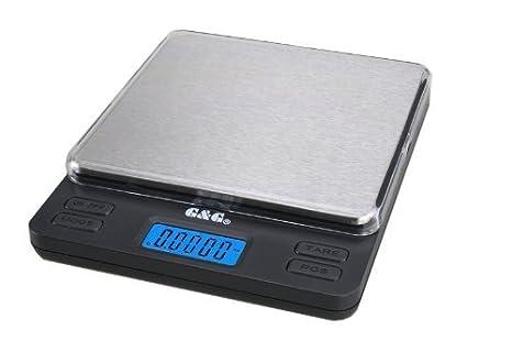 G&G - Báscula digital de precisión - Peso máximo: 1000 g / Granularidad: 0