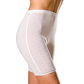 Camille Womens Ladies Warm Underwear Winter White Thermal Shorts ...