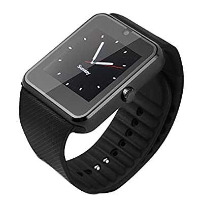 SQDeal Bluetooth Smart Watch Phone [2017 Version] - NFC, Black