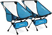 HOMFUL Camping Chair Ultralight Portable Backpacking Chairs with Storage Bag Folding Chair for Outdoor Camping