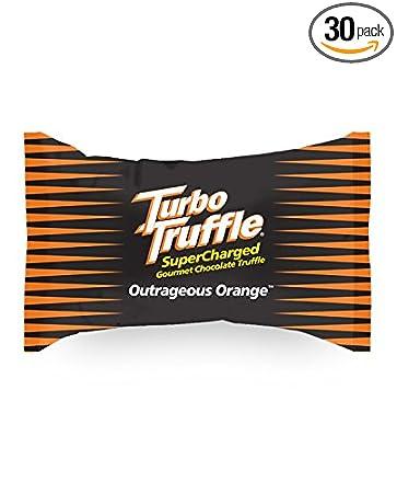 Turbo Truffle Caffeinated Energy Chocolate - 150 mg of caffeine - Bite Size Chocolate Candy Energy