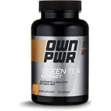 OWN PWR Green Tea Extract 500 MG with 250 MG EGCG, 120 Capsules, 4 Month Supply