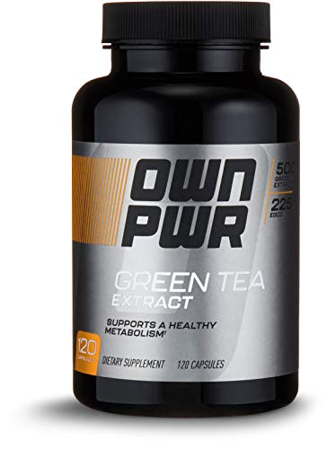 OWN PWR Green Tea Extract 500 MG with 250 MG EGCG, 120 Capsules, 4 Month Supply ()