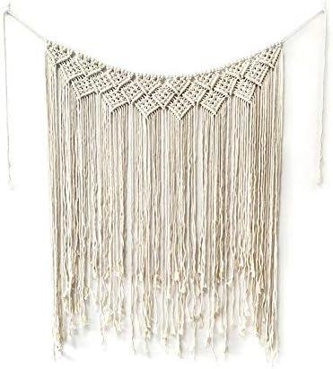 Boho Cotton Macrame Wedding Backdrop Wall Hanging Tapestry Hanger Art Home Decor