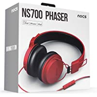 NOCS NS700-008 Headphones with Remote and Mic - Red