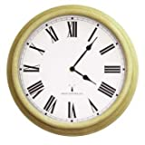 Perfect Time Radio Controlled Outdoor Garden Wall Clock - Antique White - 38cm (15') by About Time