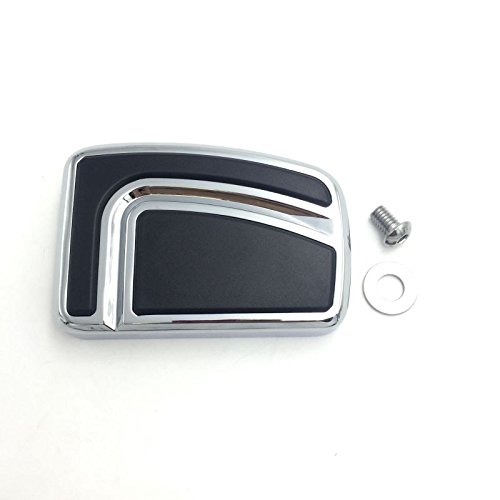 Htt Moto Chrome Grande circulation de lair Groove P/édale de frein Pad pour Harley Davidson 12-later FLD 86-later FL Softail 80-later Touring 08-later Trike Road King Street Glide