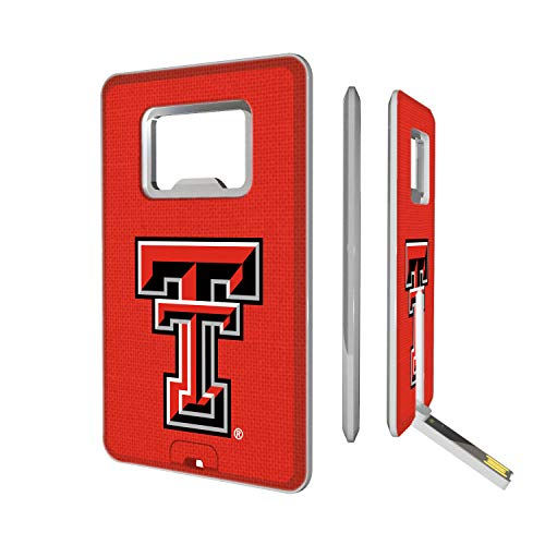 Keyscaper KUBO16-00TT-SOLID1 Texas Tech Red Raiders Credit Card USB Drive with Bottle Opener with TT Solid Design