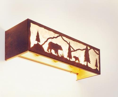 Lamp Ridge Handcrafted (Timber Ridge Bear Vanity - 4 Light)