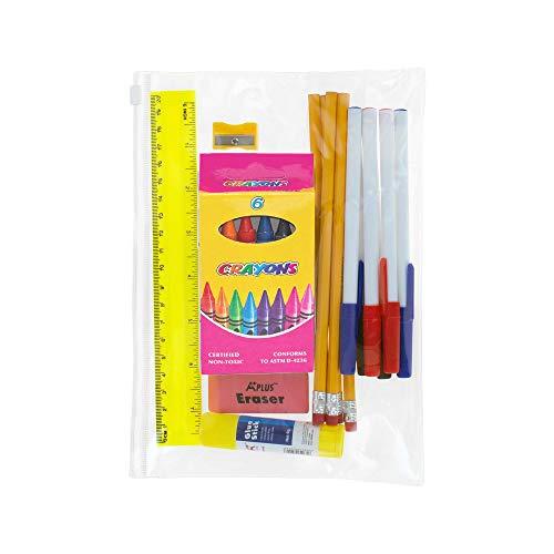 17 Piece Wholesale Lots Kids School Supplies Bundle Kit – Bulk Case of 48 Pack Bundle of Supply Kits