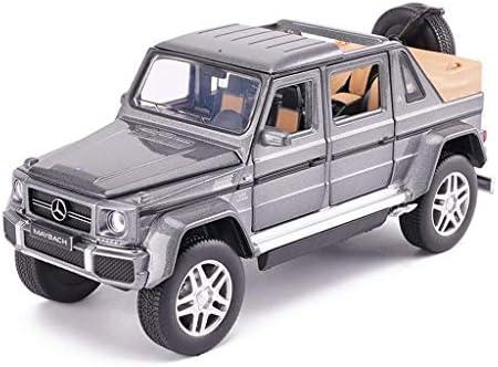 YN モデルカー モデルカーメルセデスベンツG650マイバッハ1:32子供用おもちゃ車モデル合金モデルスタティックモデルシリーズジュエリーギフトグレー ミニカー