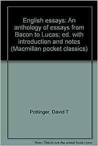 English anthology essays