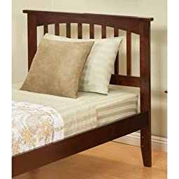 Atlantic Furniture Mission Twin Headboard in White - Twin
