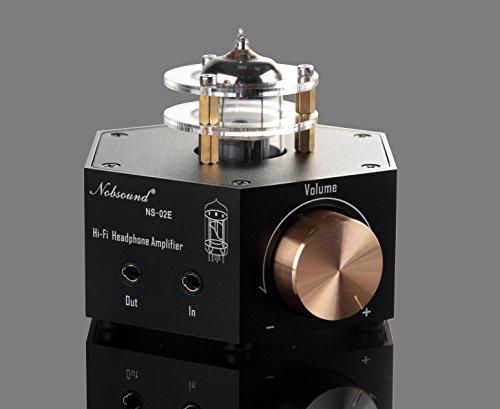 Nobsound NS-02E Vacuum Tube Headphone Amplifier Stereo HiFi Earphone Pre-Amp DIY (Black)