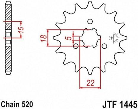 JT Sprockets JTF1445.13SC 13T Steel Front Sprocket