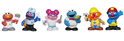 Sesame Street Friends at Work Figure Set with Elmo, Grover, Abby Cadabby, Cookie Monster & - Mini Cadabby Abby