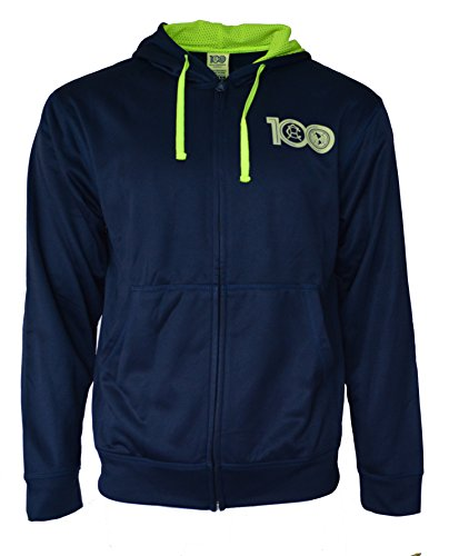 (Icon Sports Gruop Club America Hoodie Centenario Pullover Fleece Sweatshirt Jacket (Navy, S))
